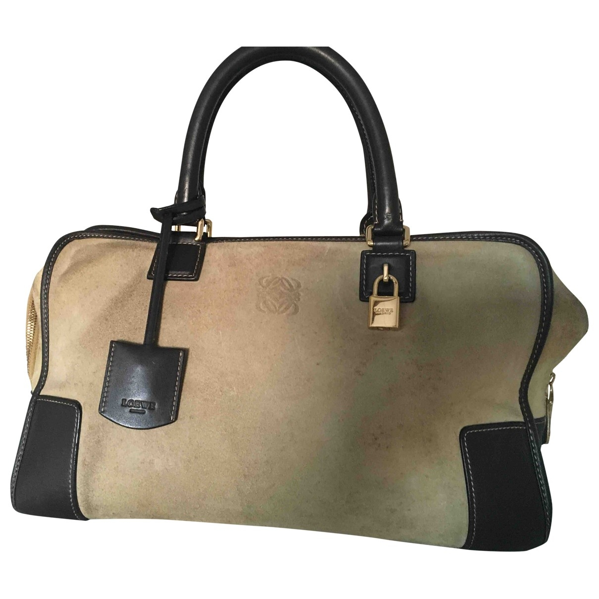 Loewe Amazona Brown Suede handbag for Women \N