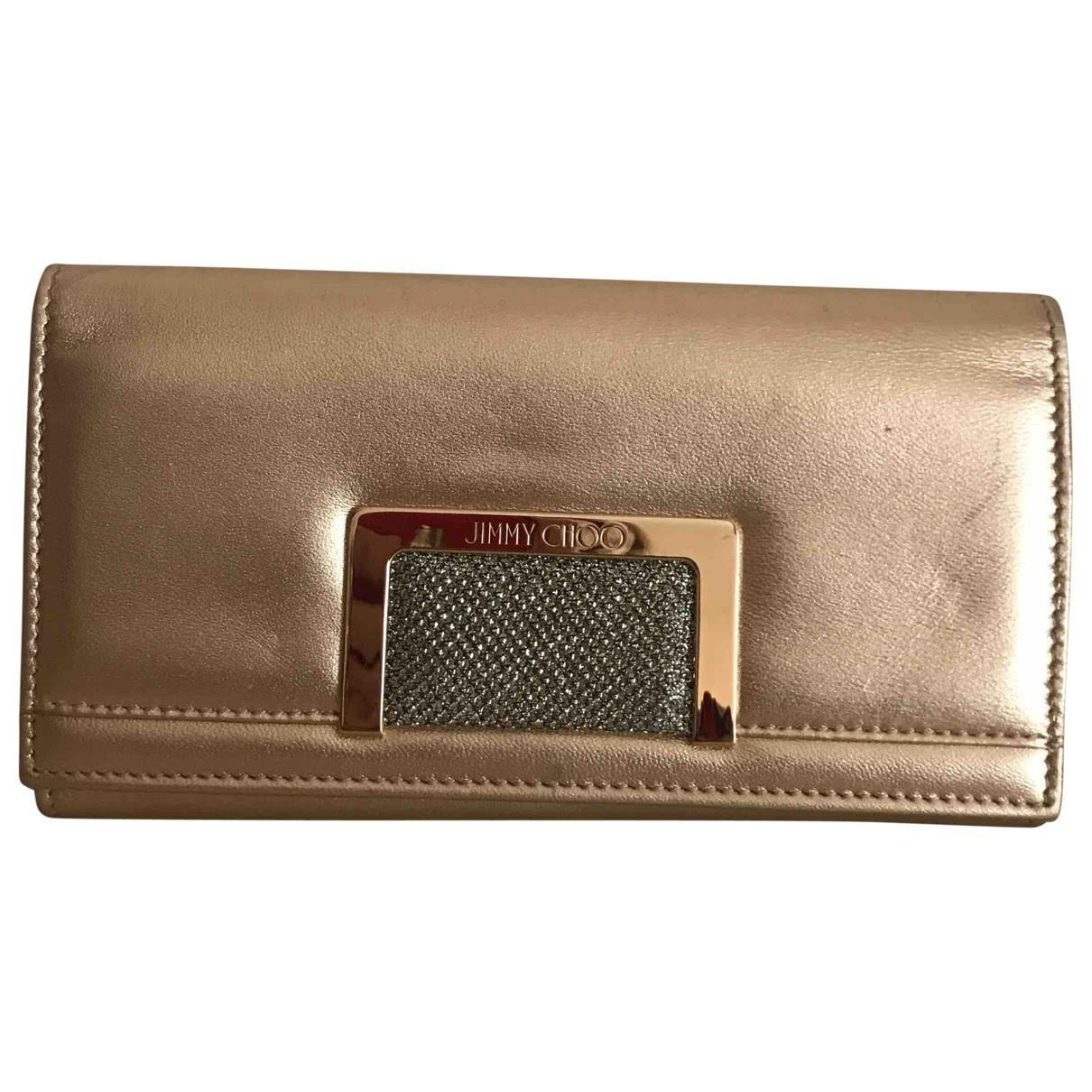 Jimmy Choo \N Portemonnaie in  Gold Leder