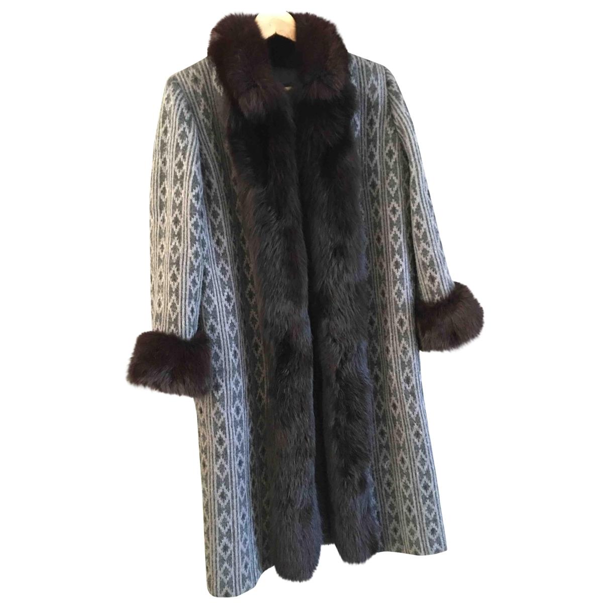 Louis Feraud \N Grey Wool coat for Women 40 FR