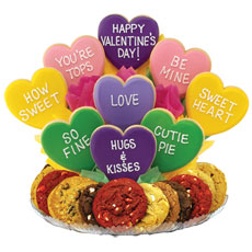 Valentines Gift Baskets | Heart Cookies