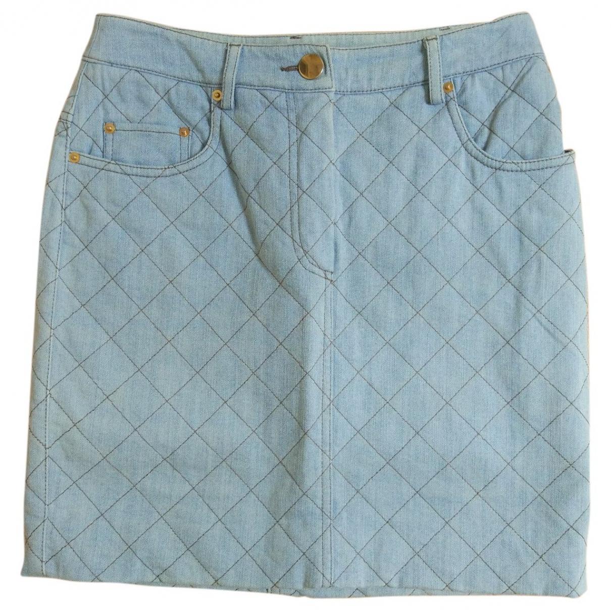 Moschino \N Rocke in  Blau Denim - Jeans