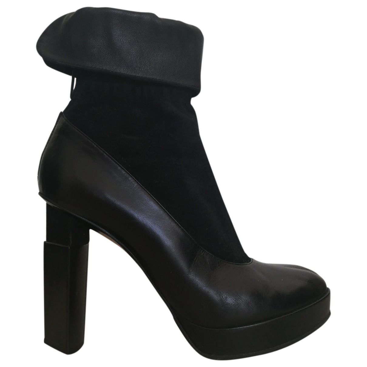 Fendi \N Black Leather Ankle boots for Women 41 EU
