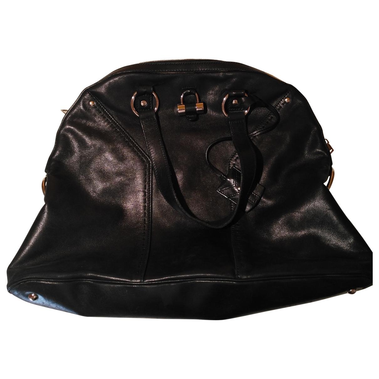 Yves Saint Laurent Muse Handtasche in  Schwarz Leder