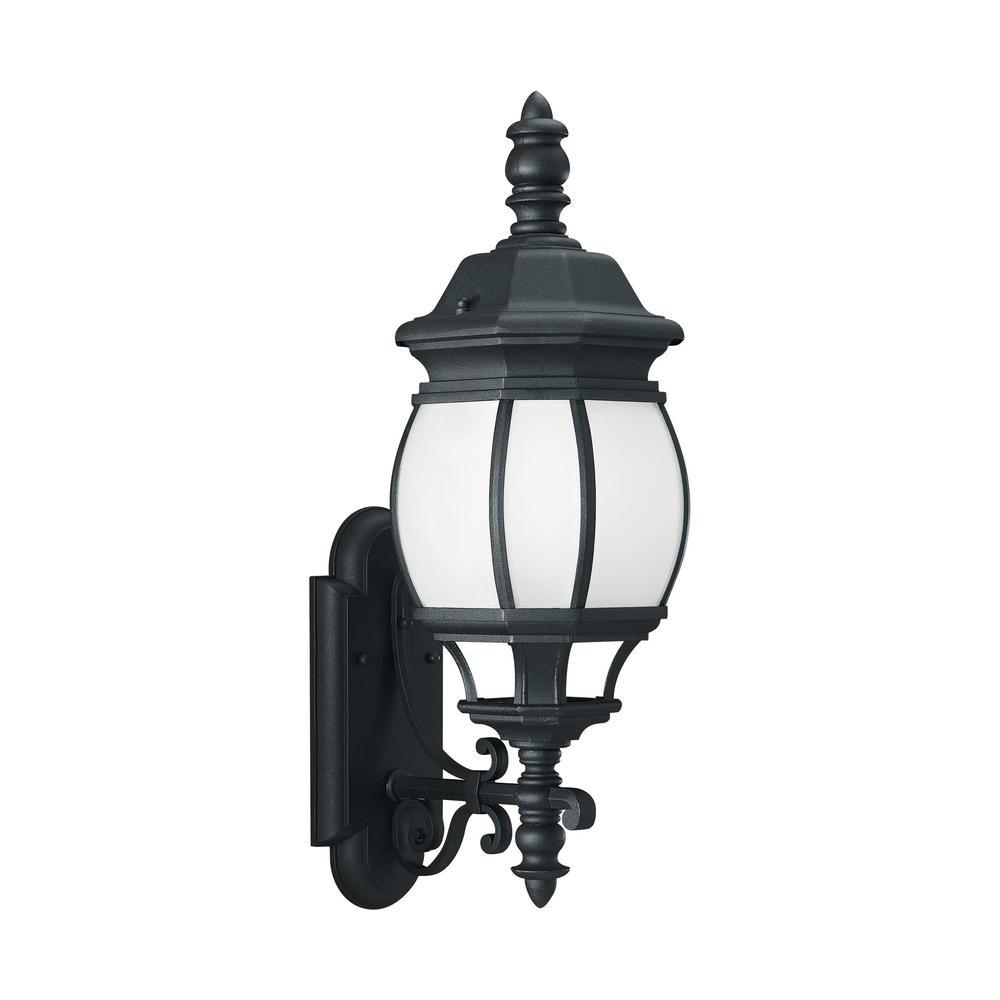 Sea Gull Wynfield 1 Light Black Outdoor Fixture (One Light Outdoor Wall Lantern)