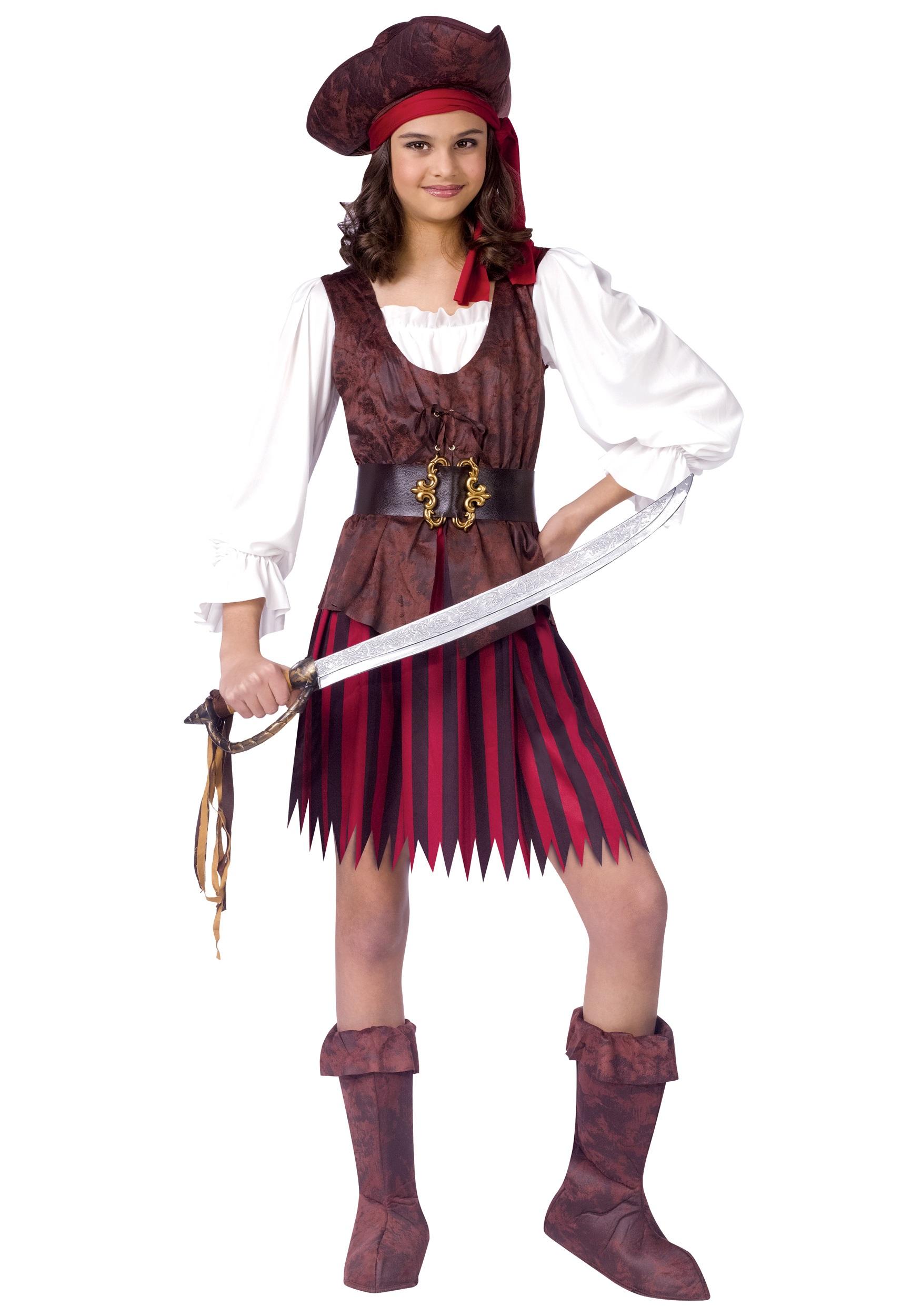 Kids High Seas Pirate Girl Costume   Kids Pirate Costumes