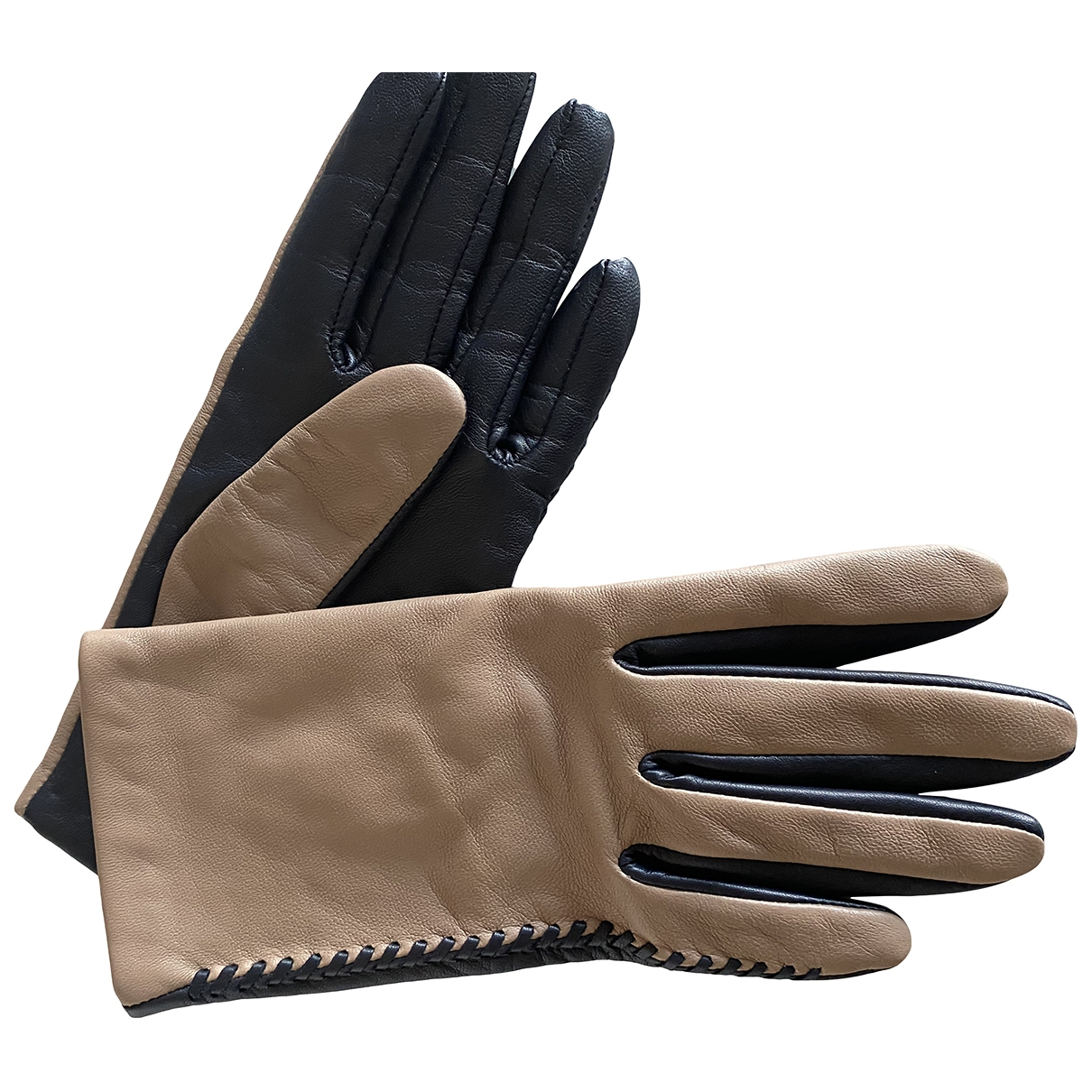 & Stories \N Blue Leather Gloves for Women XS International