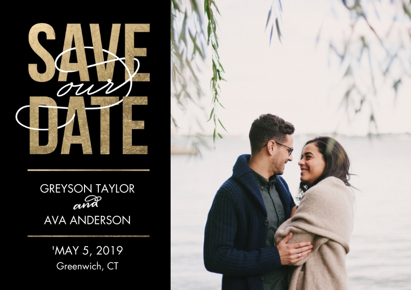 Save the Date 5x7 Postcards, Card & Stationery -Save the Date Bold