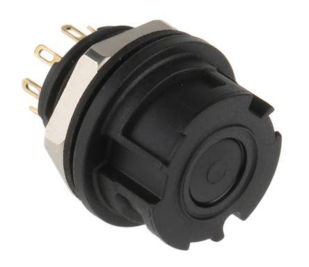 Binder Connector, 8 contacts Panel Mount Miniature Socket, Solder IP67