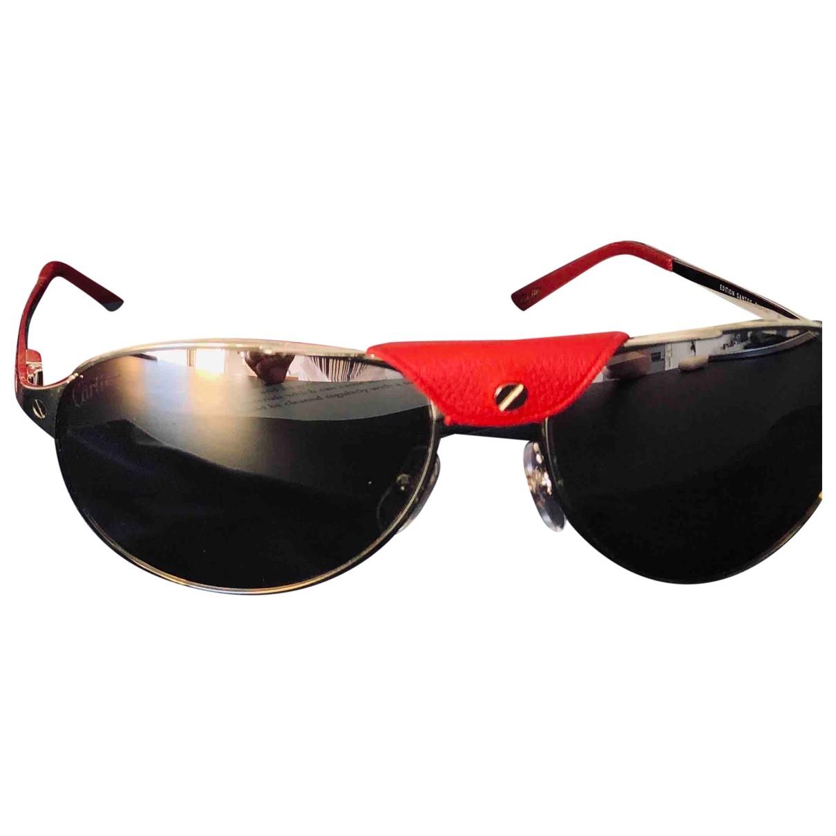 Cartier Santos Gold Metal Sunglasses for Women \N