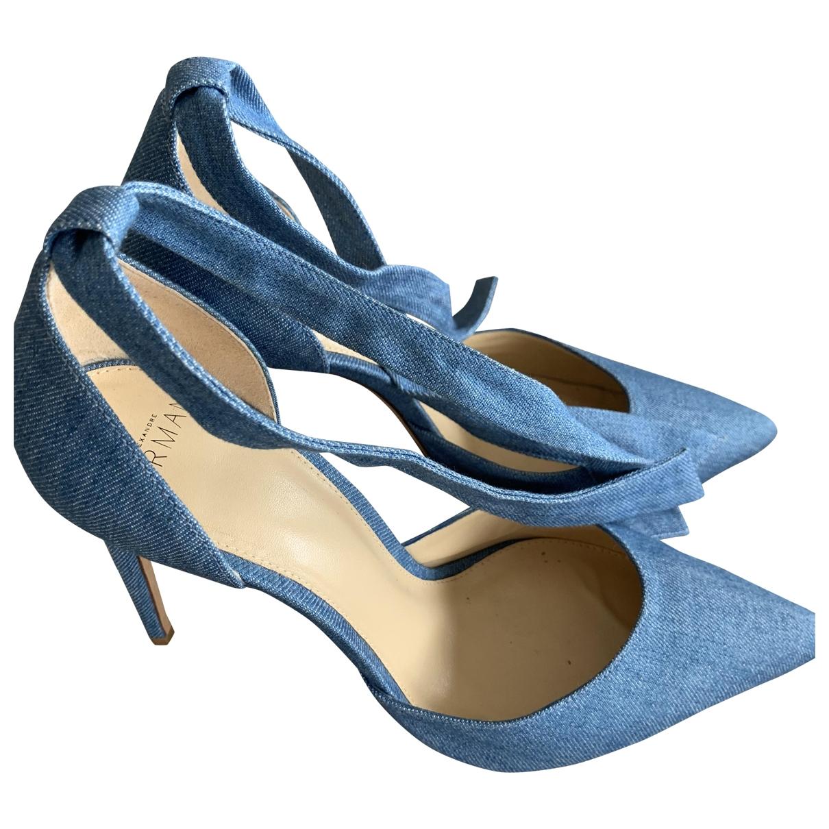 Alexandre Birman - Escarpins   pour femme en toile - bleu