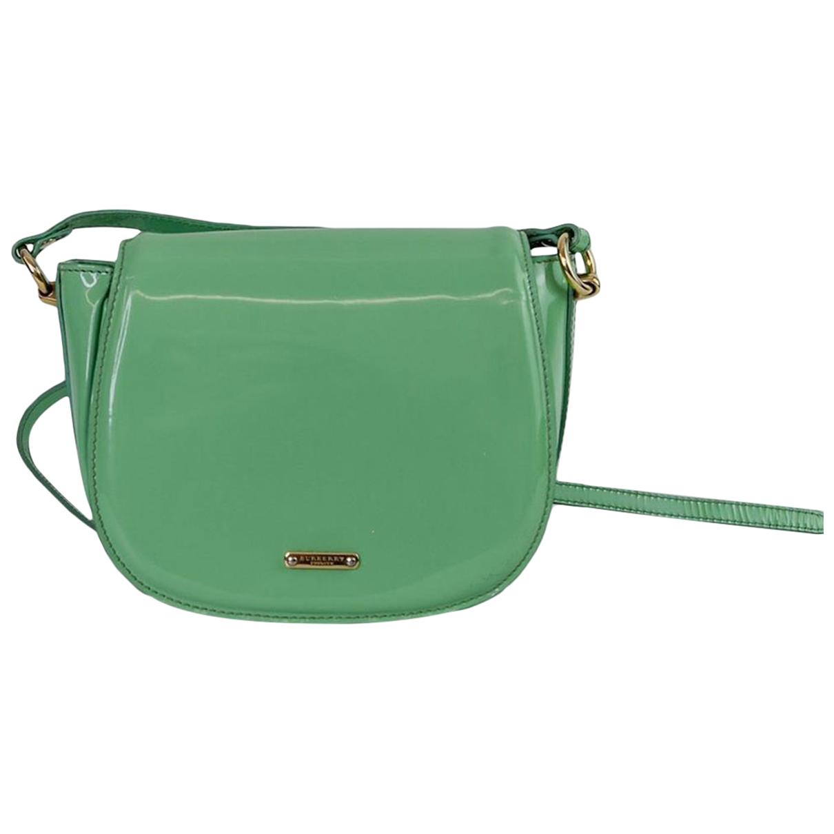 Burberry \N Handtasche in  Gruen Lackleder