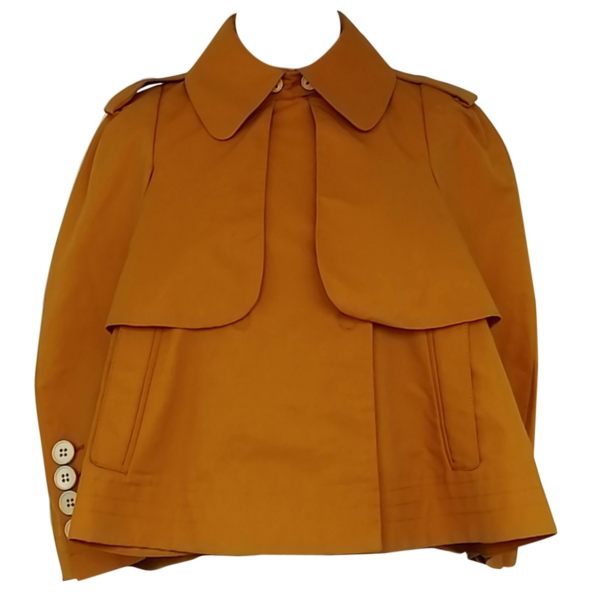 Sonia Rykiel \N Jacke in  Orange Baumwolle