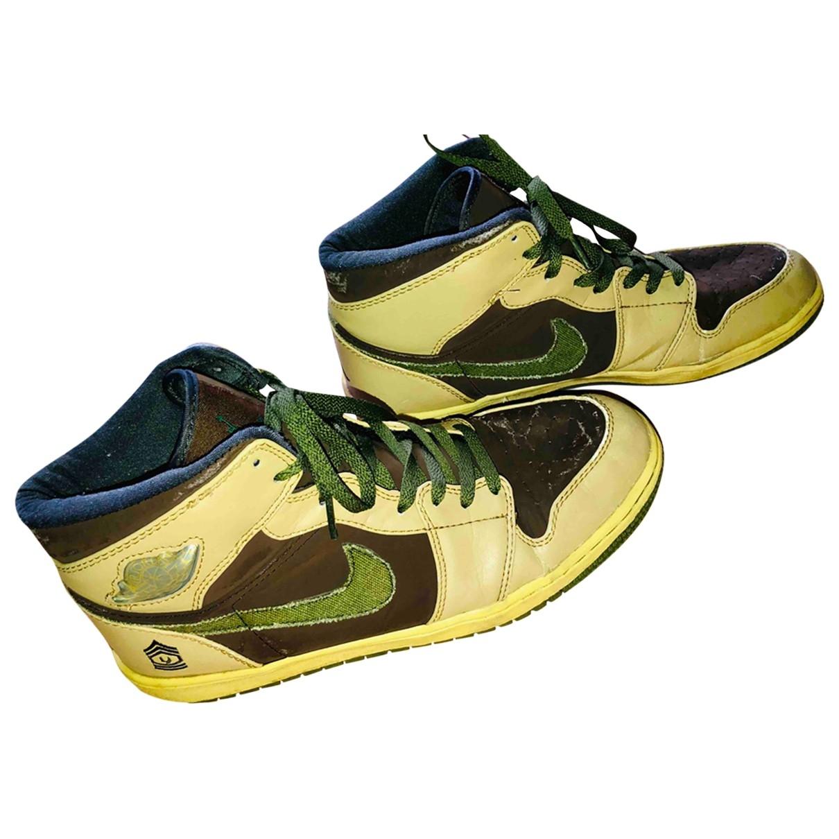 Jordan - Baskets   pour homme en cuir - kaki