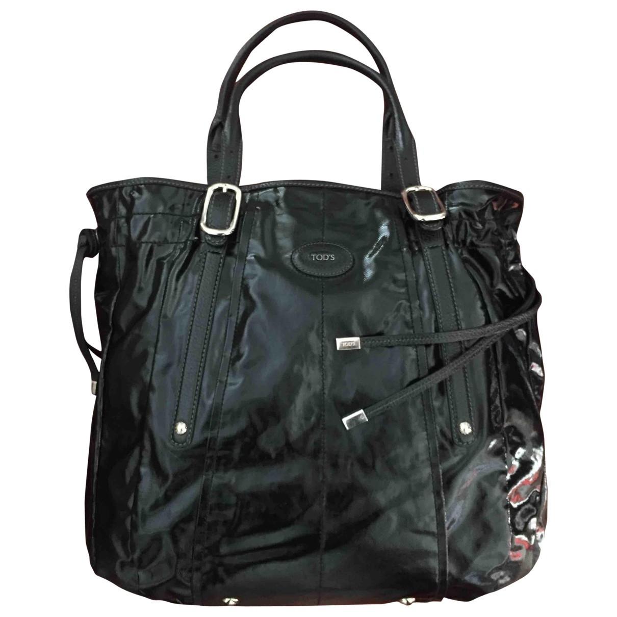 Tods \N Handtasche in  Schwarz Lackleder