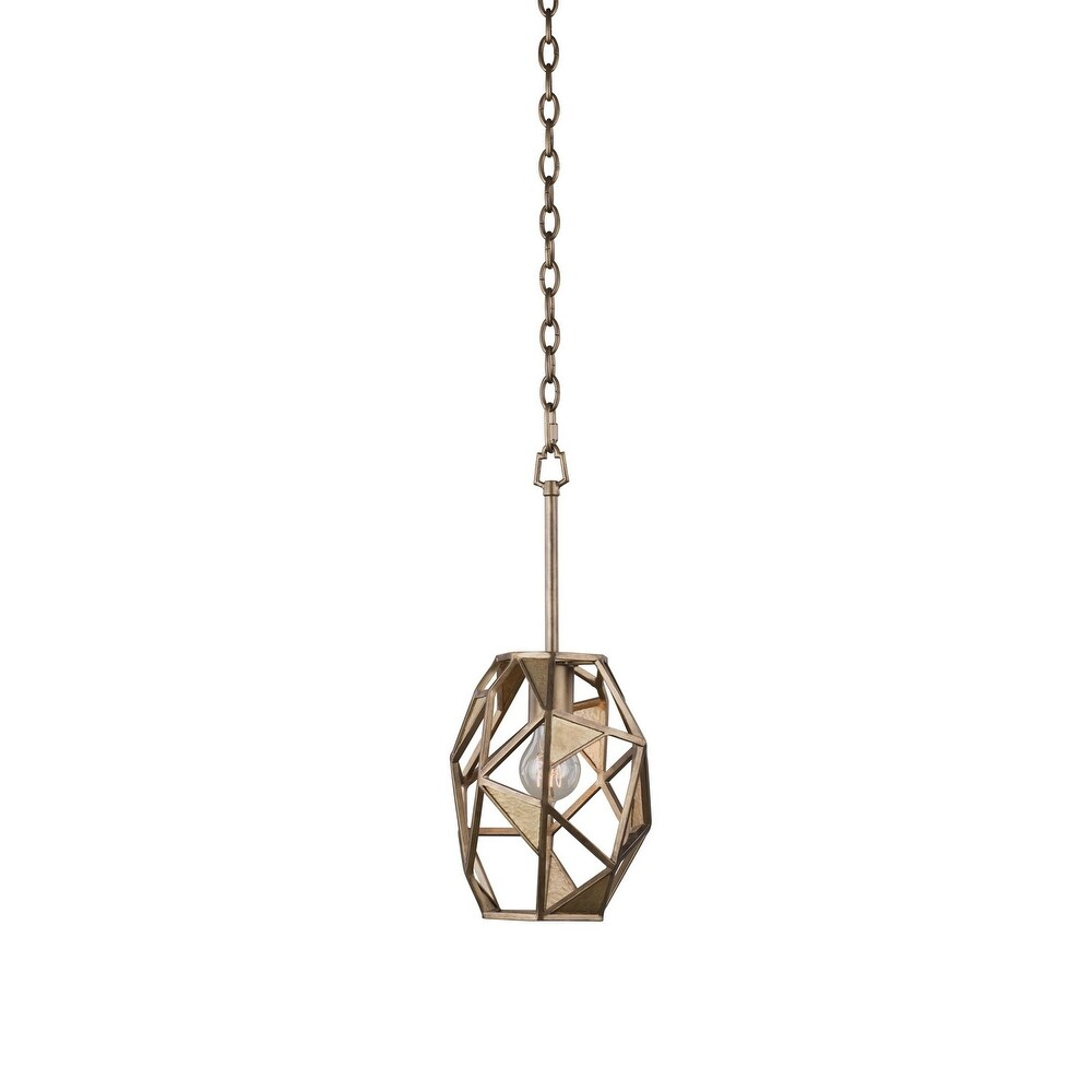 Kalco 504710PAB One Light Mini Pendant Esmeralda Pearlized Antique Br - One Size (One Size - Clear)