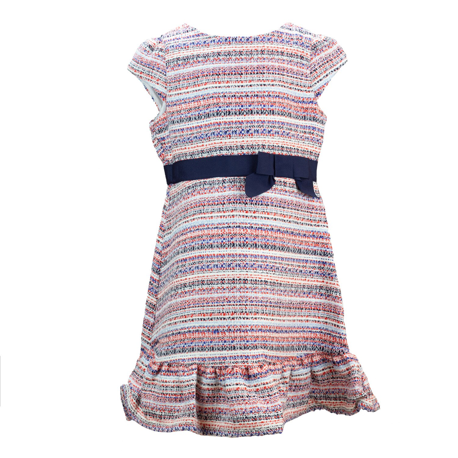 Janie And Jack Red / White Blue The Ava Dress - 2T