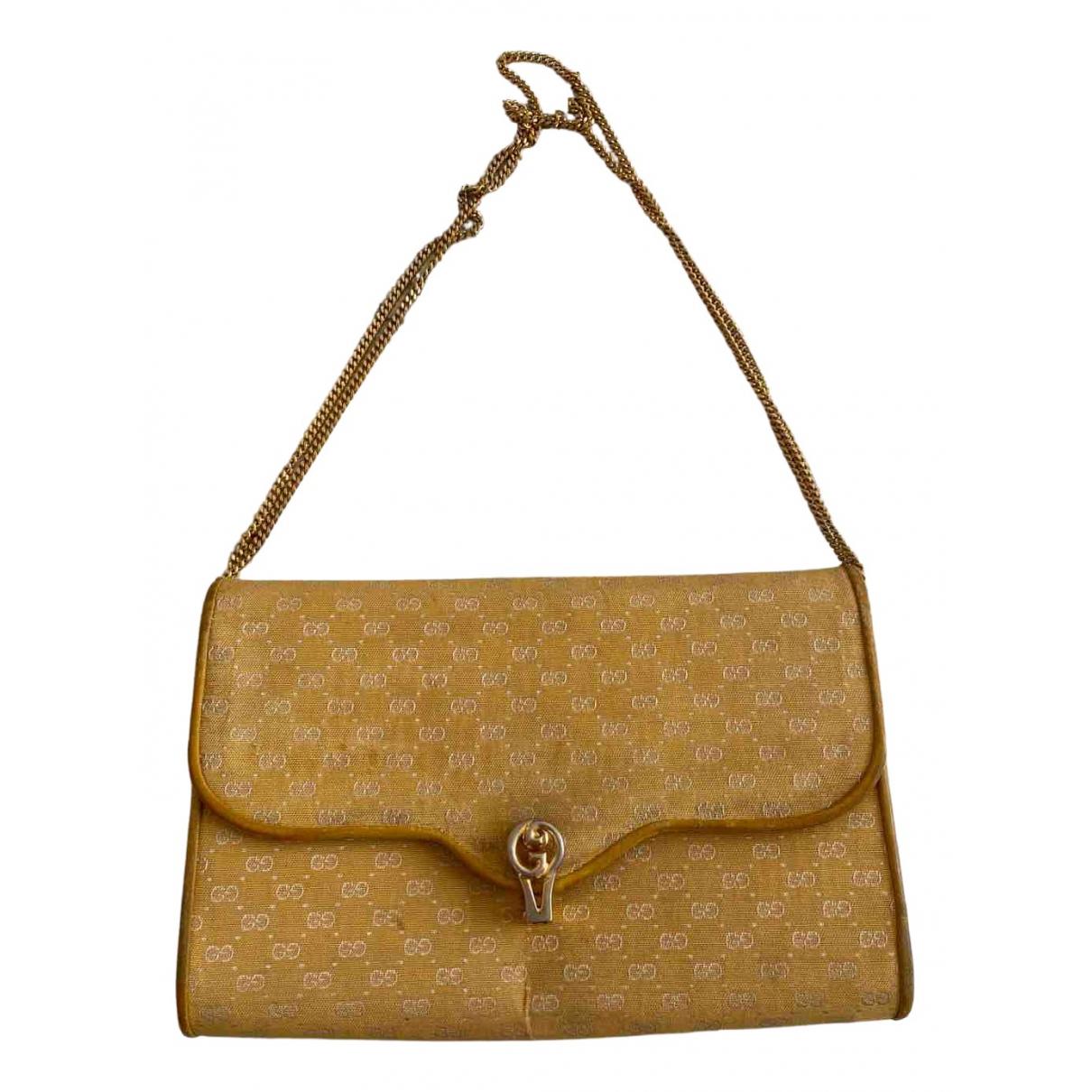 Gucci - Sac a main   pour femme en toile - jaune
