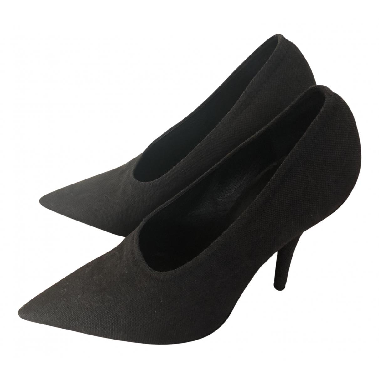 Yeezy N Grey Cloth Heels for Women 38 EU