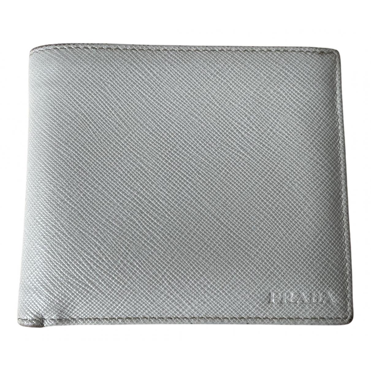Prada N Ecru Leather Small bag, wallet & cases for Men N