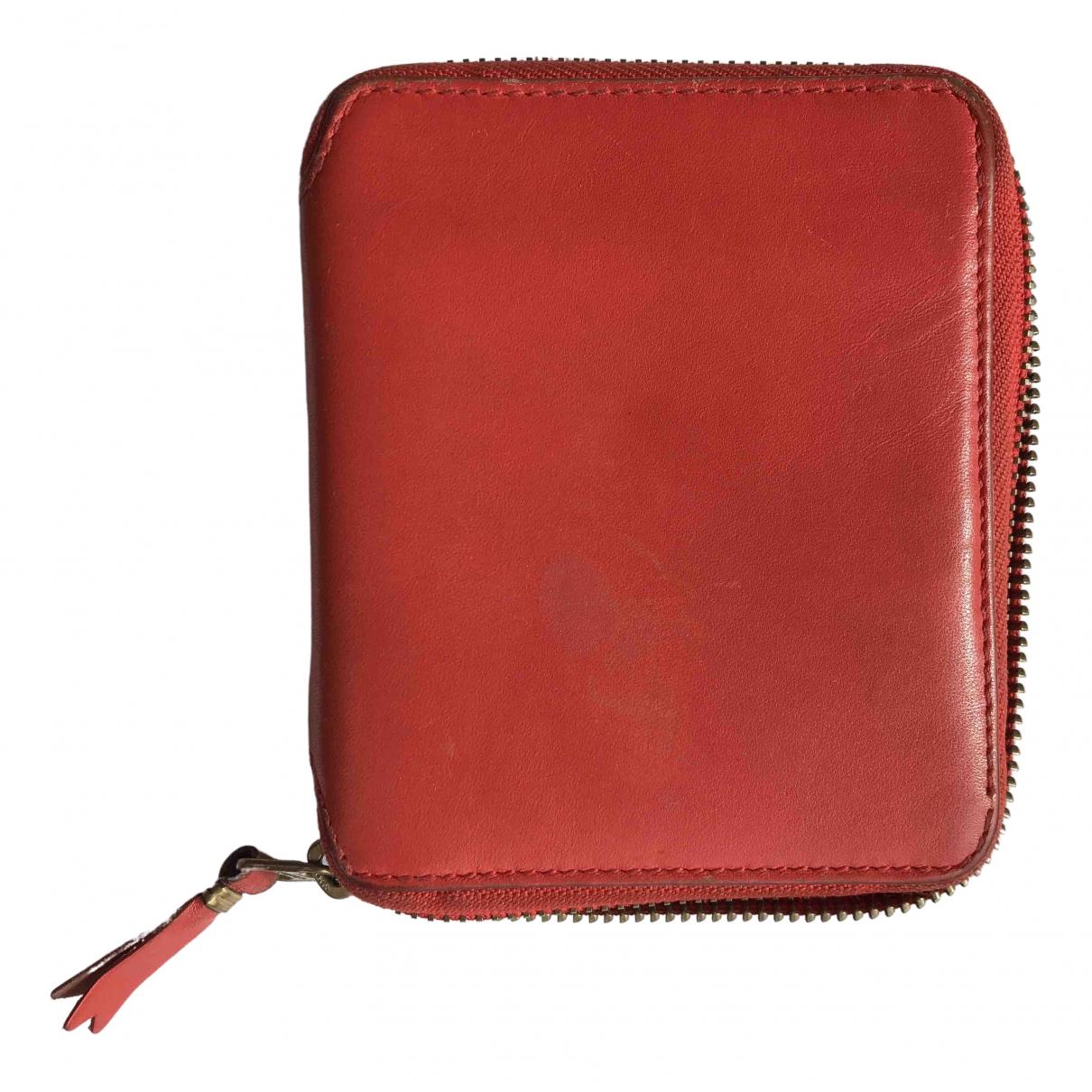 Comme Des Garcons - Portefeuille   pour femme en cuir - rouge