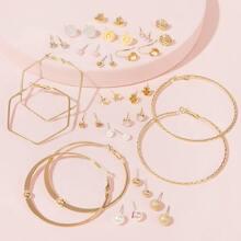 Heart & Rose Earrings 20pairs