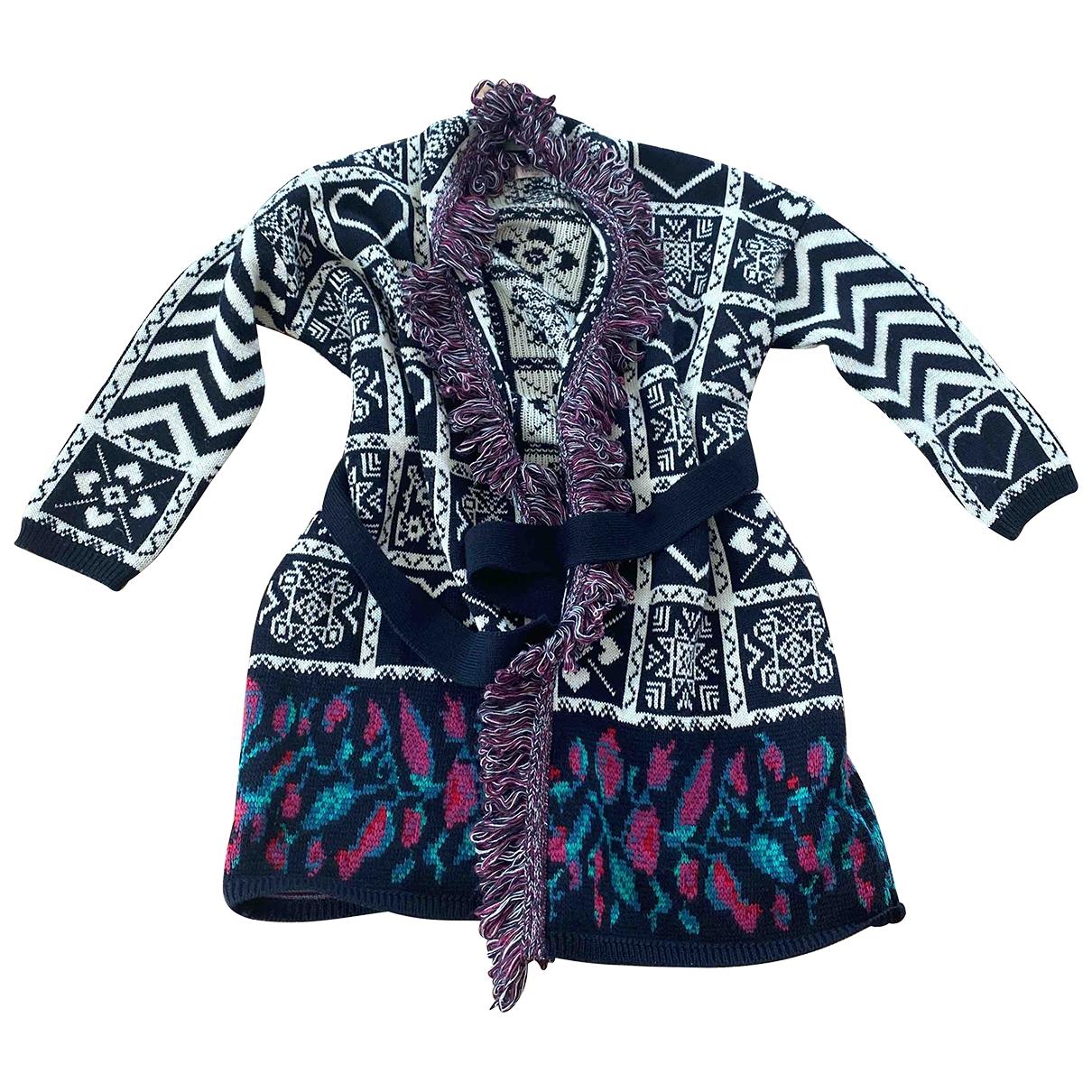 Twin Set - Veste   pour femme en laine - multicolore