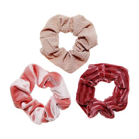 Arizona Scrunchie Hair Goods Sets, One Size , Pink