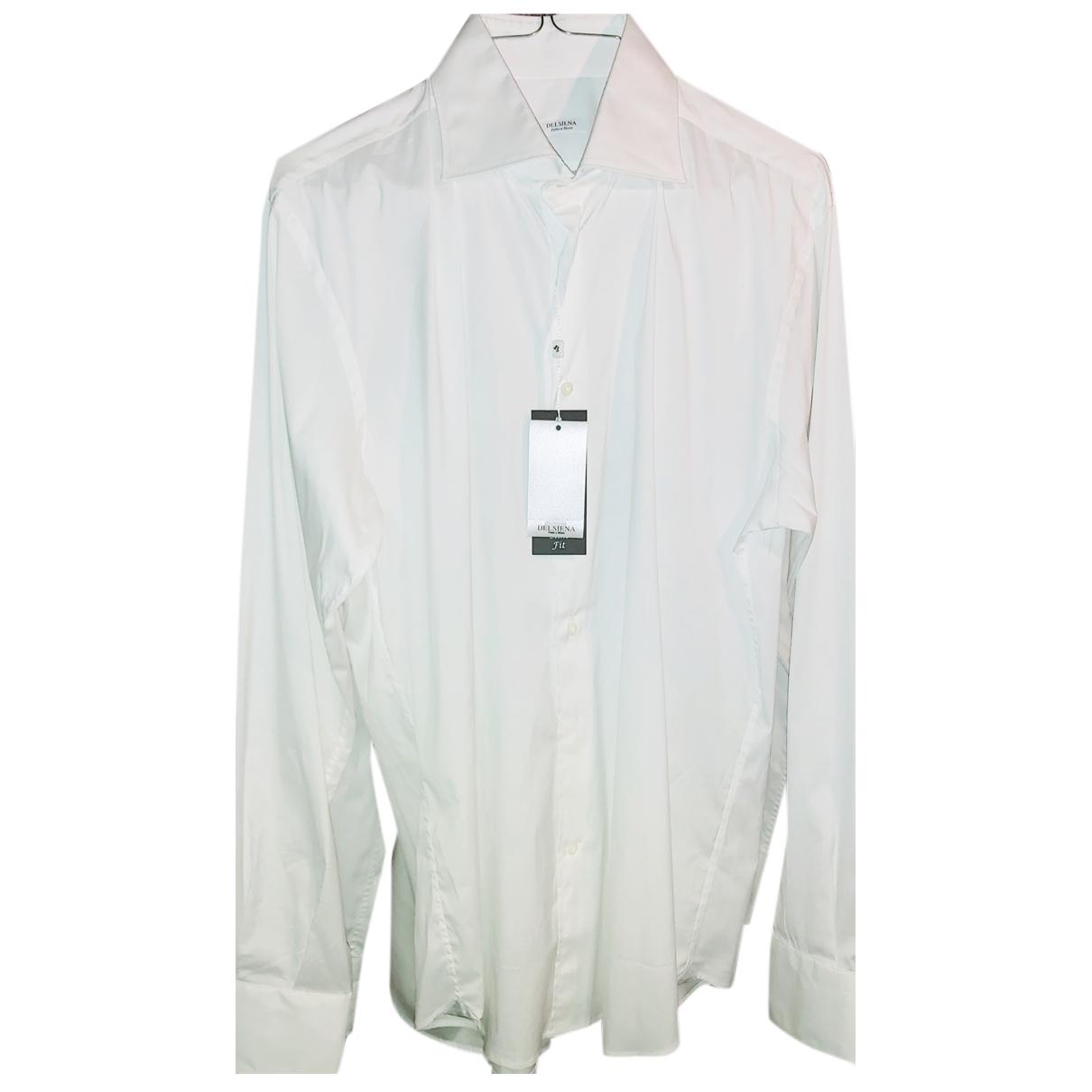Autre Marque - Chemises   pour homme en coton - blanc