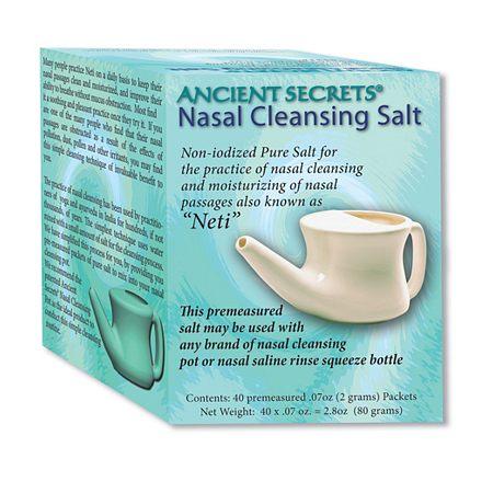 Ancient Secrets Nasal Cleansing Salt Packets - 0.7 oz x 40 pack