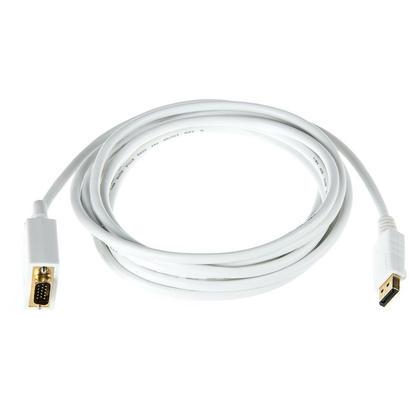 Câble 28AWG DisplayPort vers VGA - blanc (4 longueurs possibles) - Monoprice® - 15pi