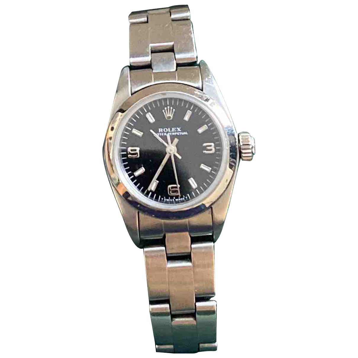Rolex Lady Oyster Perpetual 26mm Uhr in  Silber Stahl