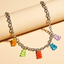 1 pieza collar con diseño de oso