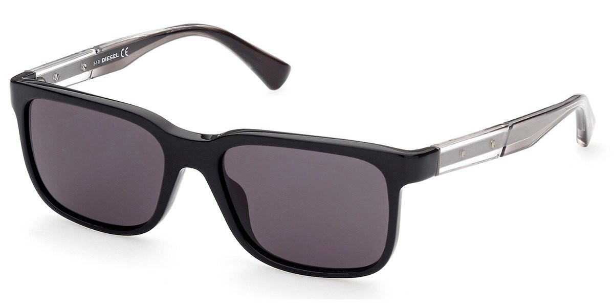 Diesel DL0341 01A Mens Sunglasses Black Size 54