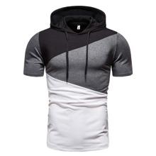 Camiseta con capucha de color combinado