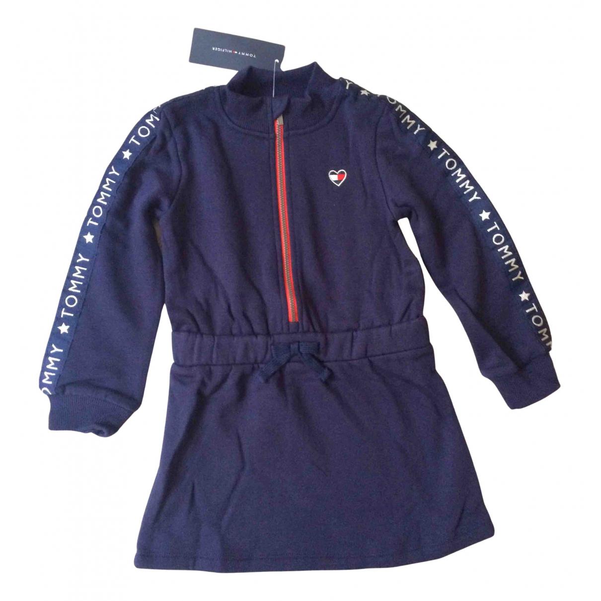 Tommy Hilfiger \N Kleid in  Marine Baumwolle