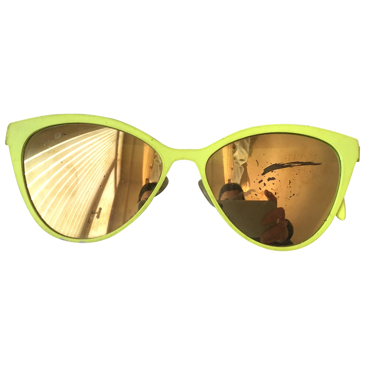 Italia Independent \N Sonnenbrillen in  Gelb Kunststoff