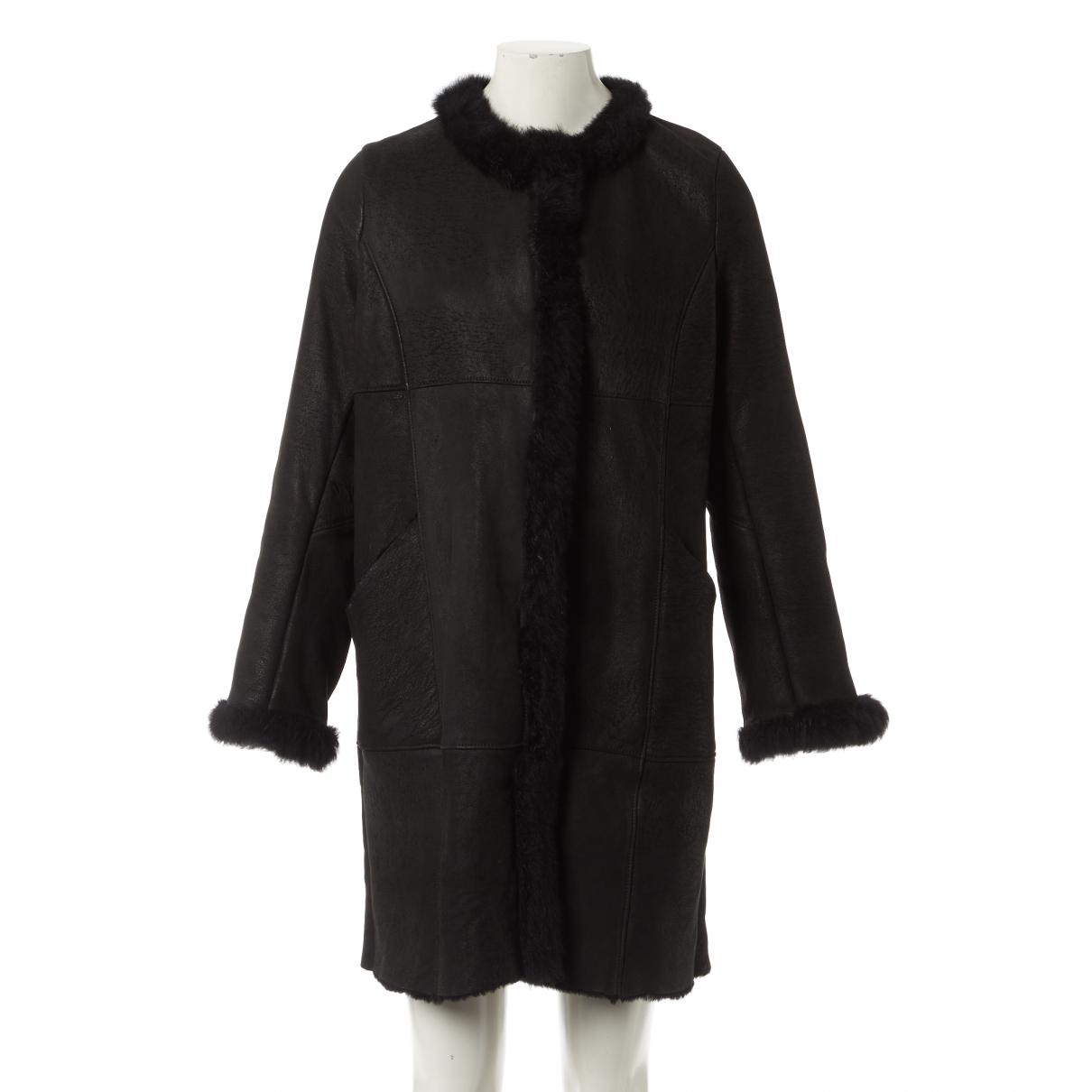 Chas Mackenzie N Black Shearling coat for Women M