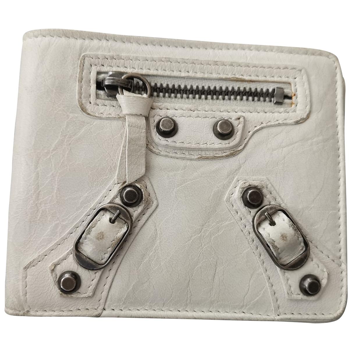 Balenciaga \N White Leather wallet for Women \N