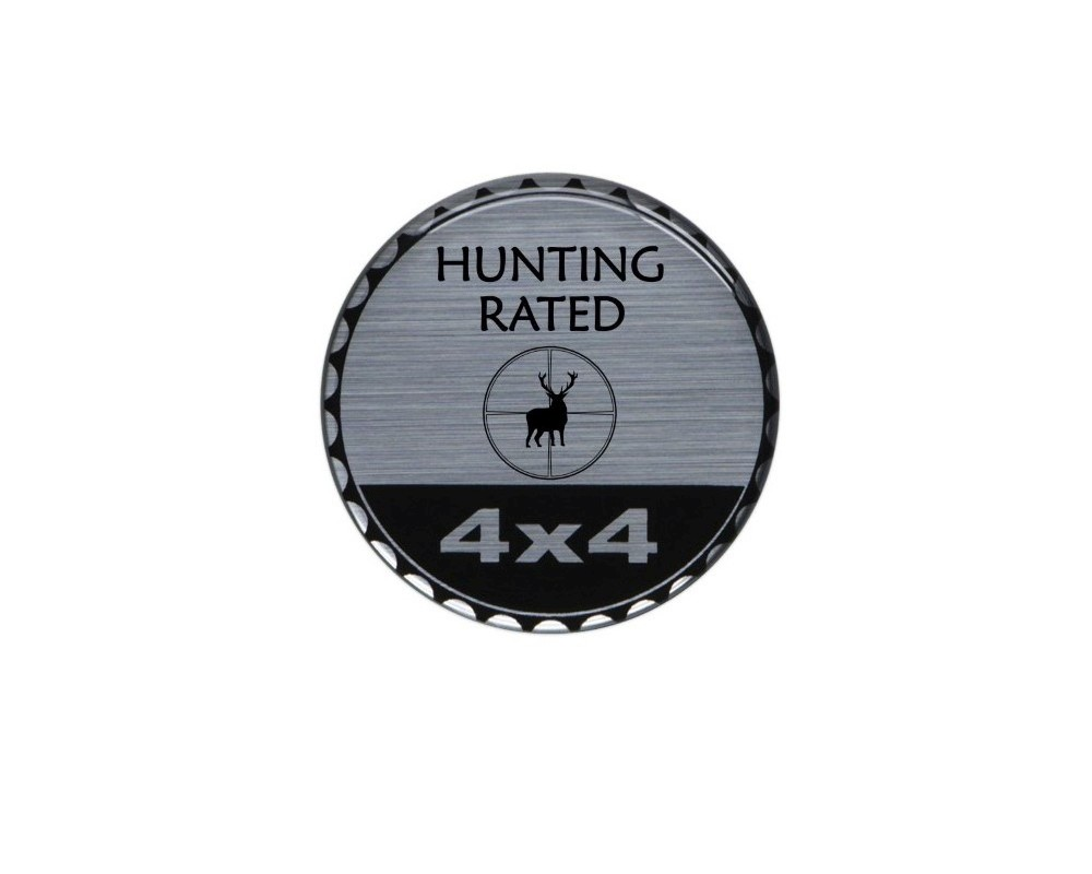 Tufskinz JEX059-DUM-286-G Rated Badge Fits Jeep 1 Piece Kit In Brushed Silver (Hunting Rated)