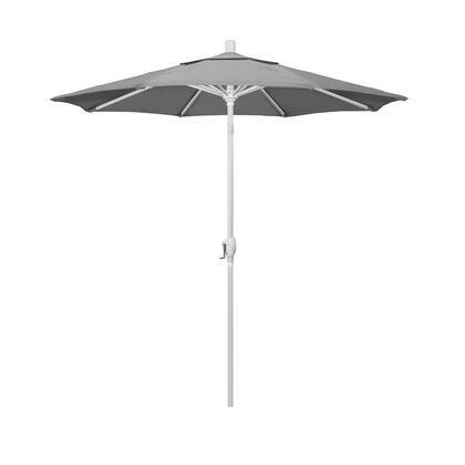 GSPT758170-5402 7.5 Pacific Trail Series Patio Umbrella With Matted White Aluminum Pole Aluminum Ribs Push Button Tilt Crank Lift With Sunbrella 1A