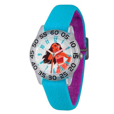 Disney Moana Girls Blue Strap Watch-Wds000042, One Size , No Color Family