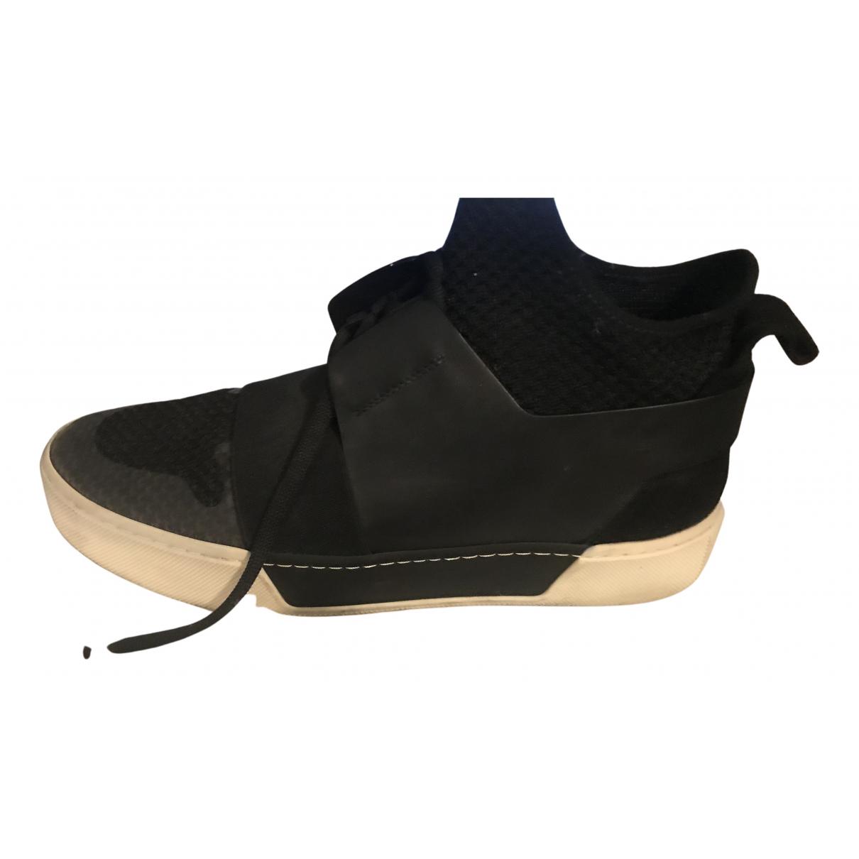 Balenciaga - Baskets   pour homme en cuir - noir