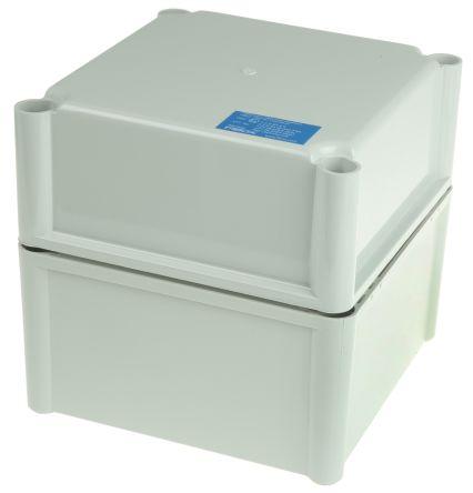 Fibox FEX, Grey Polycarbonate Enclosure, IP54, 188 x 188 x 180mm