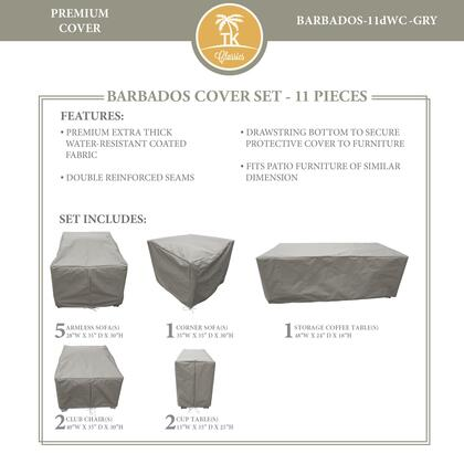 BARBADOS-11dWC-GRY Protective Cover Set  for BARBADOS-11d in