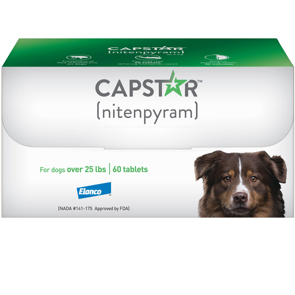 Capstar Flea Control for Dogs Over 25 lbs (60 Tablets)