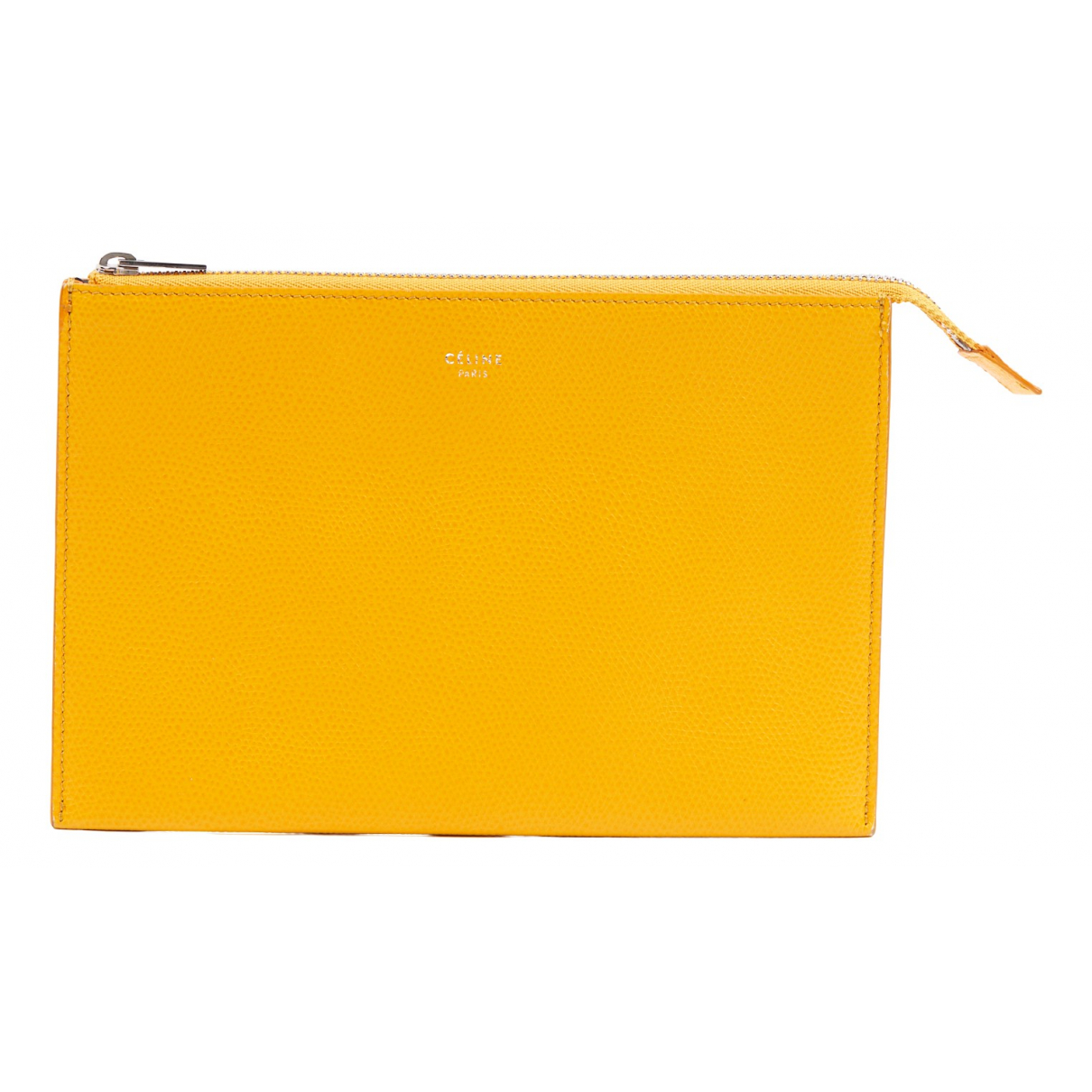 Celine \N Yellow Leather Purses, wallet & cases for Women \N