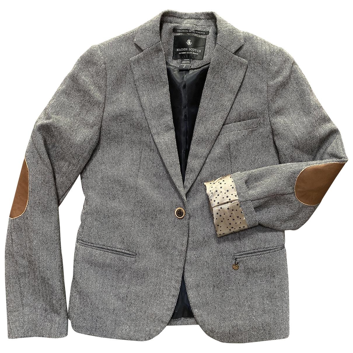 Scotch & Soda \N Jacke in  Grau Wolle