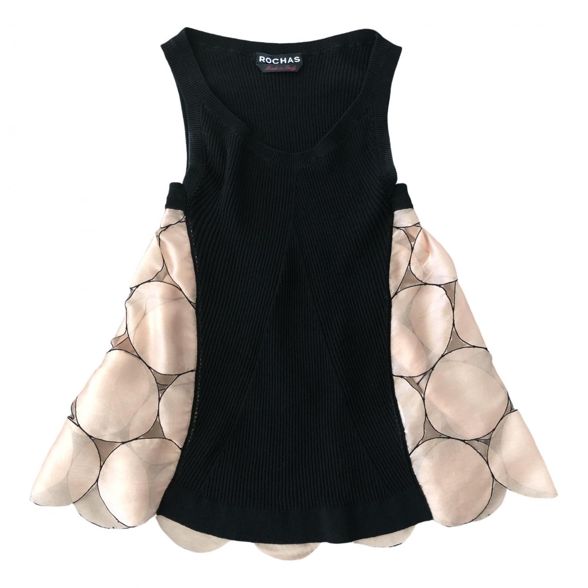 Rochas - Top   pour femme en soie - noir