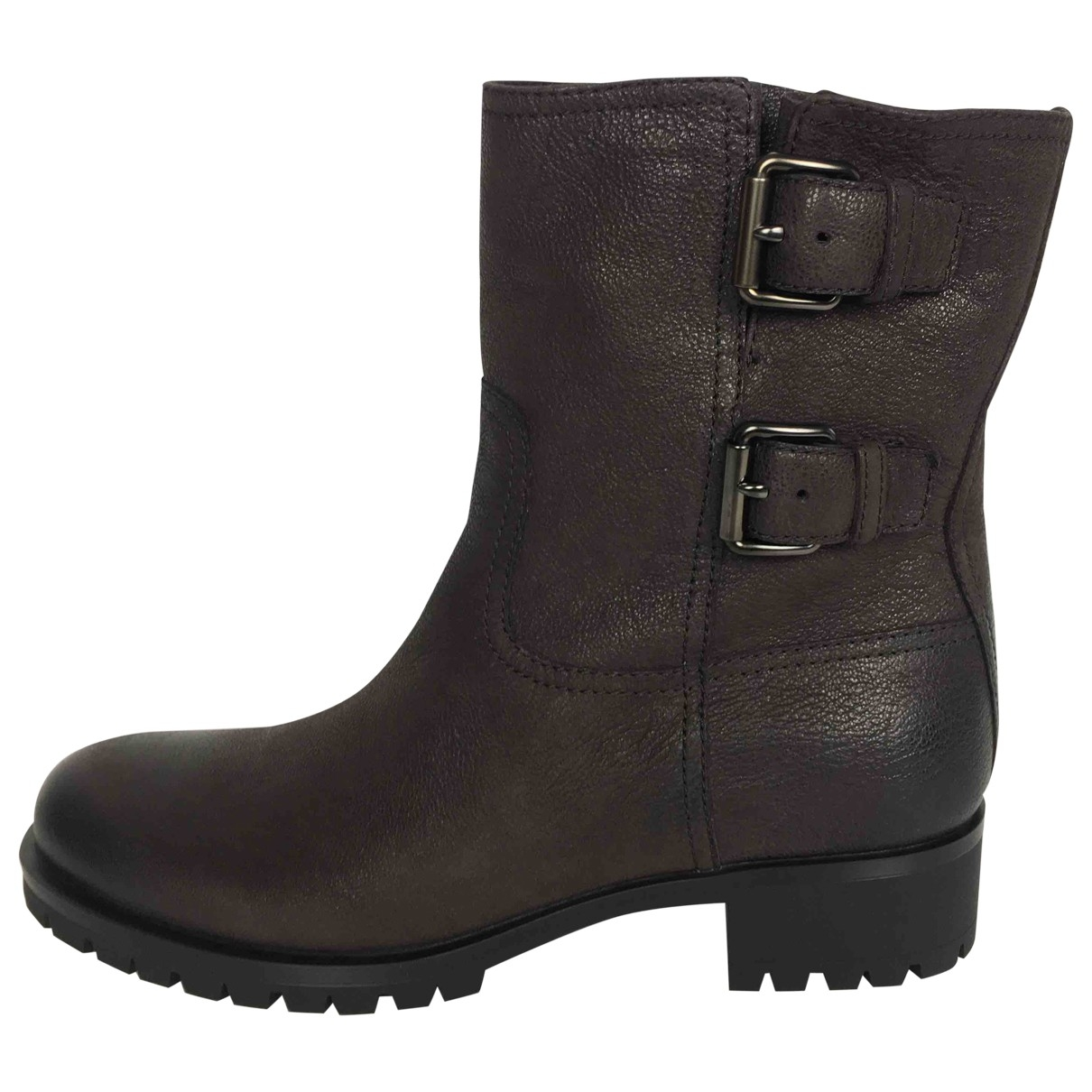 Prada \N Brown Leather Ankle boots for Women 41 EU