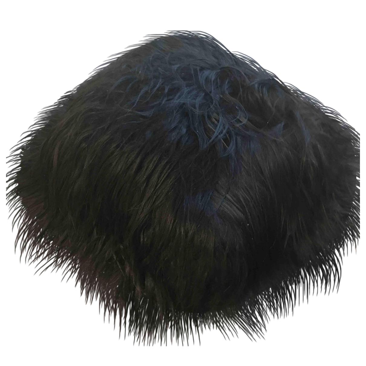 - Objets & Deco   pour lifestyle en fourrure - noir